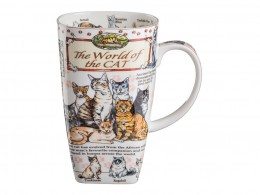 "Кружка ""the world of the cat"" 600 мл. Porcelain Manufacturing (264-217)"