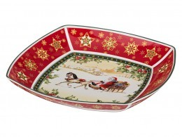 "Салатник ""christmas collection"" 33*33 см. высота=5 см. Hangzhou Jinding (586-190)"